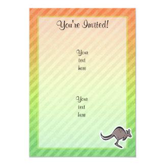 Gullig kängurudesign 12,7 x 17,8 cm inbjudningskort