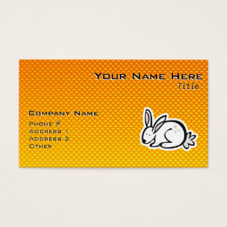 Gullig kanin; Gul orange Visitkort
