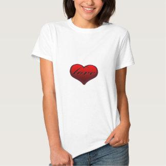"Gullig ""kärlek i hjärta"" design t-shirts"
