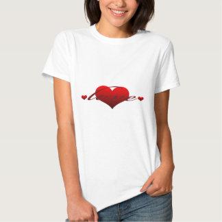 """Gullig """"kärlek med hjärtor """", tröjor"""