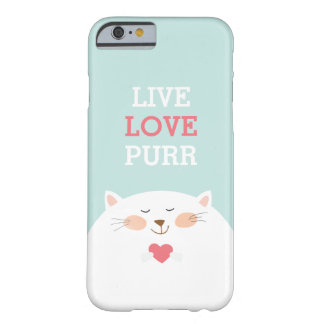 Gullig kattälskare barely there iPhone 6 skal