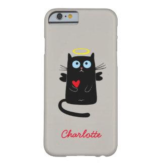 Gullig kattängel med hjärtaanpassadenamn barely there iPhone 6 skal
