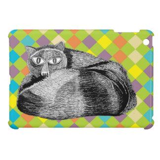 Gullig kattunge I-Vadderar fodral iPad Mini Mobil Skydd