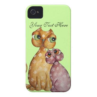 Gullig kattungeblackberry fodral iPhone 4 case