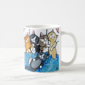 Gullig kattungeSleepoverillustration Vit Mugg