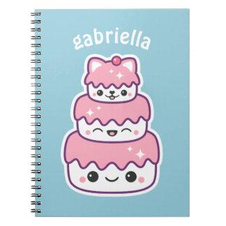 Gullig kattungetårta anteckningsbok