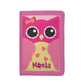Gullig Kawaii rosa ugglaplånbok för flickor