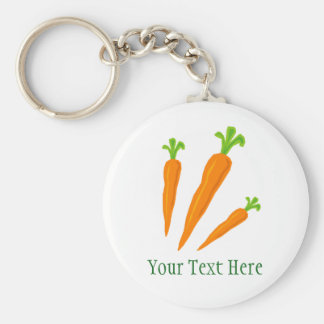 Gullig keychain för grönsak för rund nyckelring