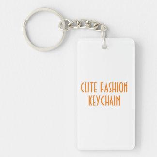Gullig keychain för modedubblasida