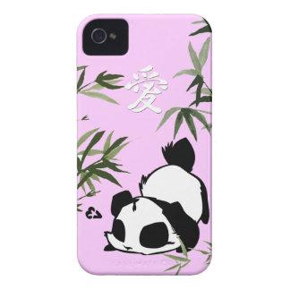 """Gullig kinesisk """"kärlek"""" Panda med bambur iPhone 4 Cover"""