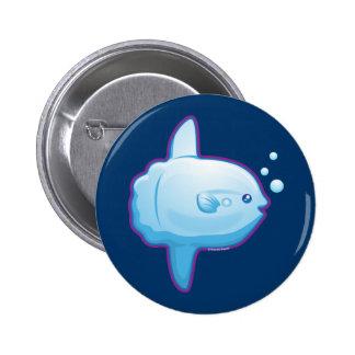 Gullig klumpfisk knapp med nål