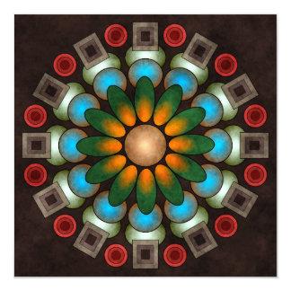 Gullig konst för blommigtabstraktvektor fyrkantigt 13,3 cm inbjudningskort