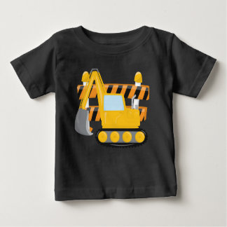 Gullig konstruktionst-skjorta för pojkar tee shirts