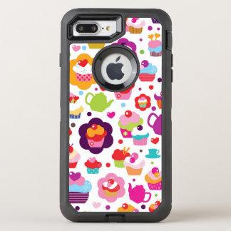 Gullig kopptårta och teakruka OtterBox defender iPhone 7 plus skal