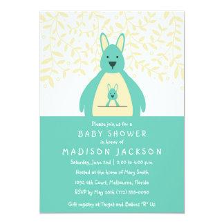 Gullig kricka för kängurubaby showerinbjudan | 12,7 x 17,8 cm inbjudningskort