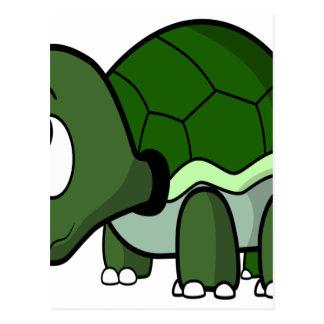 Gullig krypa sköldpadda vykort