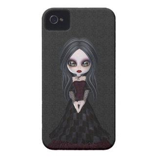 Gullig & kuslig lite Goth flickablackberry bold iPhone 4 Case-Mate Skydd
