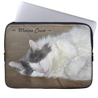 Gullig laptop sleeve för maine coonkatt