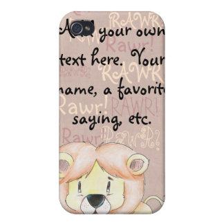 Gullig lejon iphone case iPhone 4 cases