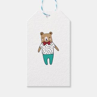 Gullig lite björn presentetikett