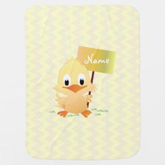 Gullig lite gul chicksicksackpersonlig