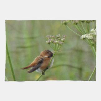 Gullig lite Hummingbird Kökshandduk