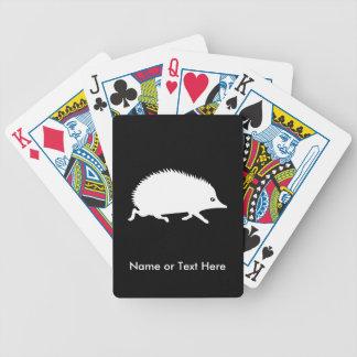 Gullig lite igelkott spelkort