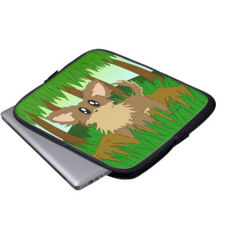 Gullig lite laptop sleeve för hund för