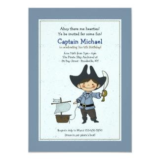 Gullig lite piratinbjudan 12,7 x 17,8 cm inbjudningskort
