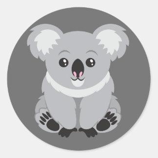 Gullig livlig Koalabjörn Runt Klistermärke