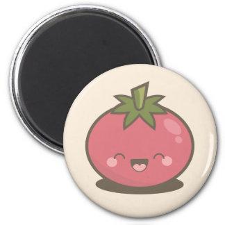 Gullig lycklig Kawaii tomatmagnet Magnet Rund 5.7 Cm