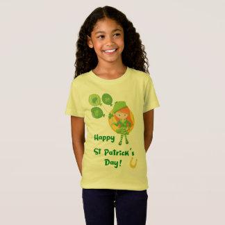 Gullig lycklig st patrick's dayflicka t-shirts