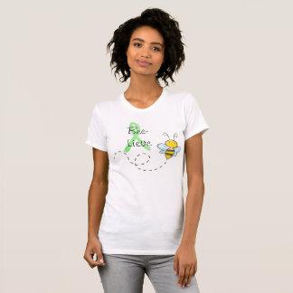 Gullig Lyme för Bi-Lieve honungbi skjorta T-shirt