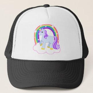 Gullig Magical Unicorn med regnbågen (anpassadet!) Keps