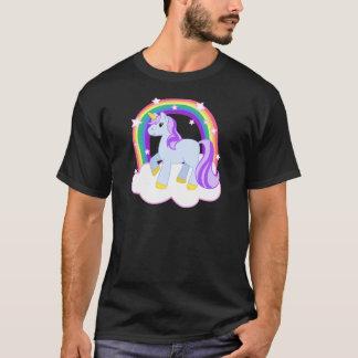 Gullig Magical Unicorn med regnbågen (anpassadet!) T-shirt