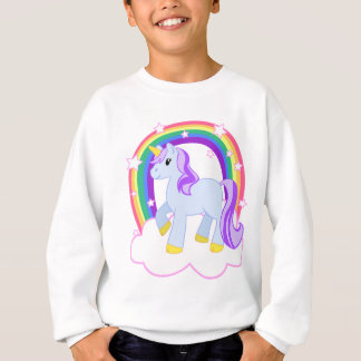 Gullig Magical Unicorn med regnbågen (anpassadet!) Tee Shirts