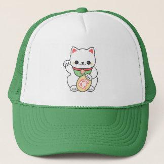 Gullig Maneki Neko lycklig katt Keps