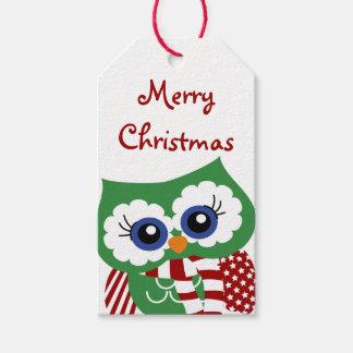 Gullig märkre för gåva för julugglahelgdag presentetikett