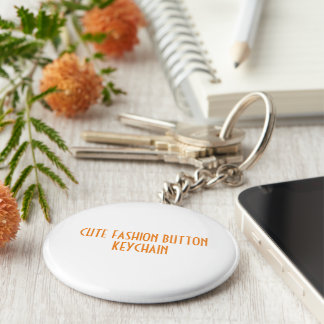 Gullig mode knäppas keychain rund nyckelring