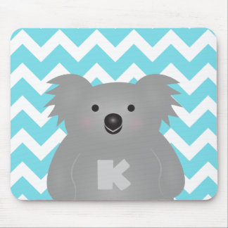 Gullig Monogram för björn för Australien babyKoala Musmatta