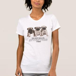 Gullig mops kan skjortan för Haz uppmärksamhet T T-shirts