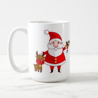 Gullig mugg för jultomtenjulkaffe