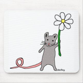 Gullig mus- och blommakonstmusmatta musmatta