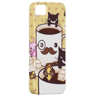 Gullig mustaschkaffekopp med kawaiidjur iPhone 5 cases
