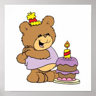 gullig nalledesign för första födelsedag affischer
