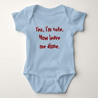 Gullig och rolig bebissloganskjorta t-shirts