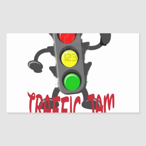 Gullig och rolig design för trafikstockning retangel klistermärken