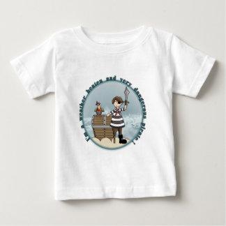 Gullig och rolig piratdesign tee shirt