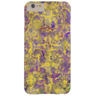 Gullig och skraj ljus gult- och lilaabstrakt barely there iPhone 6 plus fodral