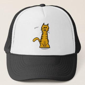 Gullig orange katt keps